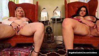 BBWs Angelina Castro &amp_ Samantha 38G Have Huge Ass Boobs!
