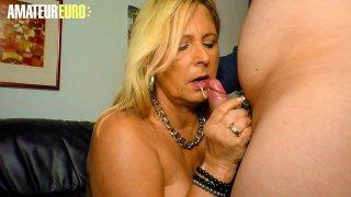 AMATEUR EURO  German BBW Blonde Kiki R. Getting Desperate For Her Husband Dick