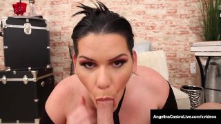 Free Rent! Cuban BBW Angelina Castro Sucks Renters Hard Cock