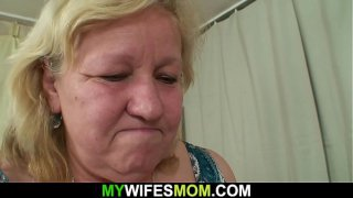 Wife finds him fucking her old plump mother!