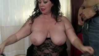 BBW WITH MESH LINGERIE