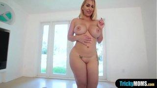 My cock addict chubby cougar stepmom fucks me