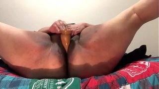 Slut almost gets caught playing with her dildo