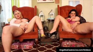 BBWs Angelina Castro &amp_ Samantha 38G Got Massive Tits!