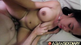 Asian Sex Diary  Young Asian with huge perfect tits gets fucked