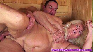Chubby european grandma gets doggystyled