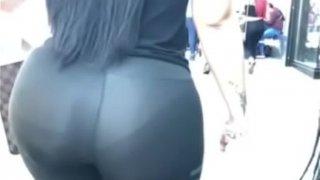 Phat ass big ass see through panties shiny leggings