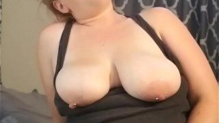 Redhead gets caught masturbating