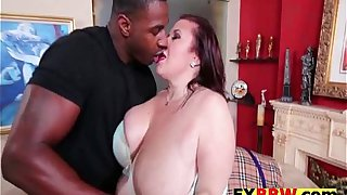 BBW Old Whore Fucks Son's Black Friend