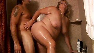 Big beautiful busty blonde BBW loves a hot fucking