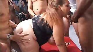 BBW Gangbang and Creampie