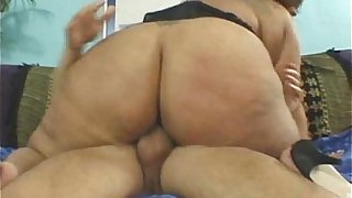 Exotic BBW Newbie With Huge Ass Fucks Old Man