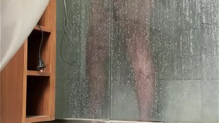 BBW caught masturbating in shower