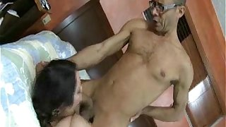 Busty BBW Rikki Waters Fucks Ramon's Monster Cock