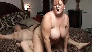 Beautiful mature BBW enjoys a big old facial cumshot