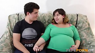 Small dicked dude loves banging her PREGGO BBW GIRLFRIEND!!!