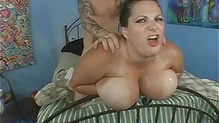 Tattooed Bike Dude Fucks Busty BBW