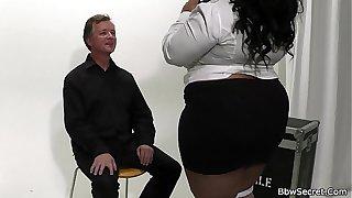 He licks and fucks huge boobs ebony BBW