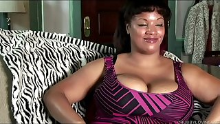 Big beautiful black BBW talks dirty and fucks her wet pussy