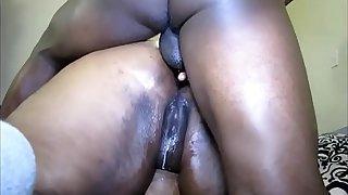 Ebony BBW gets an Anal Creampie