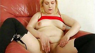 Horny Fat Chubby GF masturbating her Pussy