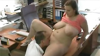 Fucking my Fat Chubby Secretary at the office