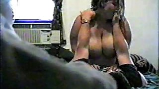 Horny Fat BBW Ex GF with Big Tits riding cock on Hidden Cam