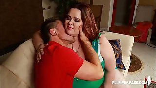 SSBBW Mandy Majestic Corrupts and Fucks Hot Teen Stud