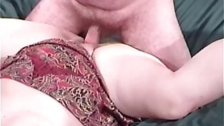 Fat blonde slut enjoys in great oral sex