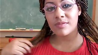 Cute chubby black babe loves to fuck her fat juicy pussy 4 U