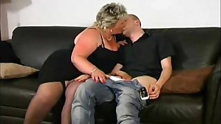 Fat Ass Mature BBW Swallow Young Sperm