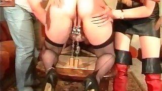 Fat mature slut loves BDSM games as she