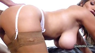 Big tit mommy takes a fat large cock