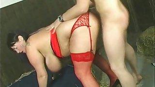 Chubby British Wife Fucks Stranger as Hubby Films
