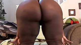 Big tits black BBW imagines you fucking her fat juicy pussy