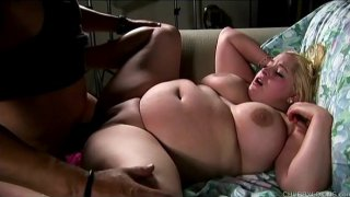 Beautiful big tits blonde BBW banged and blasted with cum
