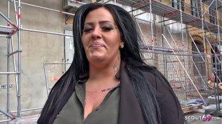 GERMAN SCOUT  BBW Teen Ashley bei Strassen Casting gefickt