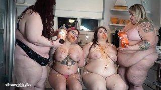 Insane Lesbian sorority forcefeeding!